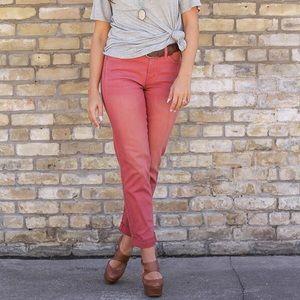Marsala Boyfriend Jeans